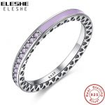 ELESHE Original 100% 925 <b>Sterling</b> <b>Silver</b> Finger <b>Rings</b> Authentic Luxury Jewelry Full CZ <b>Silver</b> <b>Rings</b> For Women Wedding Jewelry