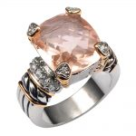 Hot Sale Morganite 925 <b>Sterling</b> <b>Silver</b> High Quantity <b>Ring</b> For Men and Women Size 6 7 8 9 10 F1441