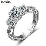Promotion 94%OFF Vecalon Vintage Engagement wedding Band <b>ring</b> for women AAAAA Cz <b>ring</b> 925 <b>Sterling</b> <b>Silver</b> Female <b>ring</b>