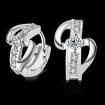 <b>Sterling</b>–<b>silver</b>-jewelry pendientes mujer <b>earrings</b> 925 brincos plata earing stud orecchini oorbellen women jewelry crystal 21