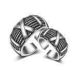 2017 new arrival hot sell fashion lovers`gift retro style Thai <b>silver</b> 925 <b>sterling</b> <b>silver</b> lovers couple finger <b>rings</b> jewelry