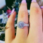 original design classic pave setting 925 <b>Sterling</b> <b>Silver</b> Women Wedding Engagement <b>Rings</b> For halo finger <b>ring</b> gifts Jewelry R783