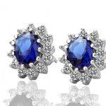 crystal jewelry 925 <b>sterling</b> <b>silver</b> rhinestone stud <b>earrings</b>