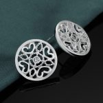 Beautiful Free Shipping Wholesale <b>sterling</b> <b>silver</b> <b>Earrings</b> For Women <b>silver</b> 925 jewelry fashion jewelry Floral disk