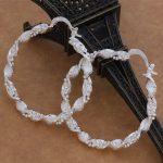 ES-AE086 Wholesale <b>sterling</b> <b>silver</b> <b>Earrings</b> <b>silver</b> 925 jewelry fashion elegant unsurpassed circular <b>Earrings</b>