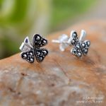 Ms black <b>silver</b> wholesale 925 <b>sterling</b> <b>silver</b> jewelry Thai <b>silver</b> restoring ancient ways is mark clover <b>earrings</b>