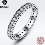 Simple Round <b>Rings</b> for Women Crystals Original 925 <b>Sterling</b> <b>Silver</b> Finger <b>Ring</b> Authentic Wedding Engagement Jewelry anel WEU7119