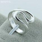 Free Shipping 925 <b>Sterling</b> <b>Silver</b> <b>Rings</b> Female Men's Fine Fashion Geometric Gift <b>Silver</b> <b>Ring</b> R044
