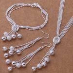AS271 Hot 925 <b>sterling</b> <b>silver</b> Jewelry Sets Bracelet 011 + Necklace 494 + <b>Earring</b> 324 /aktajcaa argajina