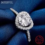 AAA High Quality Zircon Heart <b>Rings</b> 100% <b>Sterling</b> <b>Silver</b> for Women Party Wedding <b>Rings</b> Fashion Charm Heart <b>Rings</b>