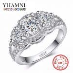 Promotion!!! Purity <b>Silver</b> Wedding <b>Rings</b> for Women 925 <b>Sterling</b> <b>Silver</b> Crystal Simulated Diamant <b>Rings</b> Jewelry Wholesale AR089