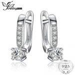 JewelryPalace 1ct Cubic Zirconia Clip <b>Earrings</b> 925 <b>Sterling</b> <b>Silver</b> Wedding Anniversary Jewelry For Women Fashion Party Gift