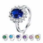 2.5CT Real Solid 925 <b>Sterling</b> <b>Silver</b> <b>Ring</b> Princess Royal style 5A Zircon Jewelry Brand Wedding Engagement <b>Silver</b> <b>Rings</b>