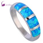New 2018 Opal <b>rings</b> Fine Jewelry <b>rings</b> for women Blue Fire Opal 925 <b>Sterling</b> <b>Silver</b> Filled Wedding Party Engagement <b>Rings</b> R519