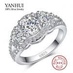 Promotion!!! Purity <b>Silver</b> Wedding <b>Rings</b> for Women 925 <b>Sterling</b> <b>Silver</b> Crystal Simulated Diamant <b>Rings</b> Jewelry Wholesale BKJZ089