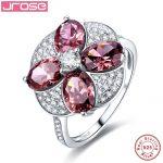 Jrose Women Party Flower Style Spessartine Garnet 100% Solid Real <b>Sterling</b> <b>Silver</b> Wedding Engagement 925 <b>Silver</b> <b>Ring</b> Size6 7 8 9