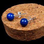 925 <b>sterling</b> <b>silver</b> natural blue lapis lazuli Stud <b>Earrings</b> for women fashion jewelry brinco brincos pendientes orecchini