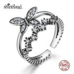Shineland New Arrival Romantic Butterfly Bridal <b>Ring</b> Vintage Animal Open <b>Ring</b> Trendy 925 <b>Sterling</b> <b>Silver</b> Jewelry for Women Party