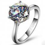 Vecalon 2016 Brand Female Solitaire <b>ring</b> 4ct AAAAA Zircon cz 925 <b>Sterling</b> <b>Silver</b> Engagement wedding Band <b>ring</b> for women
