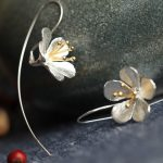 Fashion 925 <b>Sterling</b> <b>Silver</b> Long Flower <b>Earrings</b> Tassel <b>Earrings</b> Jewelry <b>Sterling</b>–<b>Silver</b>-Jewelry Pendientes Mujer Moda orecchini