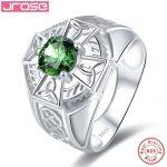 Jrose 1.37ct Created Emerald Solid 925 <b>Sterling</b> <b>Silver</b> <b>Rings</b> For Women Engagement Wedding <b>Ring</b> Amazing With box Fine Jewelry