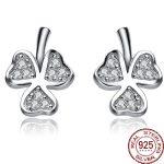 Aceworks Flower Shape 925 <b>Sterling</b> <b>Silver</b> <b>Earrings</b> Zircon Stud Women Wedding Bride Gift Crystal CZ Jewelry Ear Retro Brand New