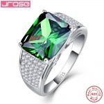 Jrose 12x10mm 9.5CT AAA Cubic Zirconia Solid 925 <b>Sterling</b> <b>Silver</b> <b>Ring</b> Women Gorgeous Party Jewelry Sz 6 – 9 Free with Box
