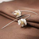 <b>Silver</b> <b>Earring</b> Fashion Water Lily 925 <b>Sterling</b> <b>Silver</b> Stud <b>Earrings</b> for Women Jewelry Wholesale Gift Hot Sell