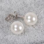 free shipping 100% real pure 925 <b>sterling</b> <b>silver</b> jewelry elegant pearl <b>earrings</b> for women best gift wholesale