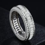 Luxury <b>sterling</b> <b>silver</b> <b>rings</b> for women full Cubic Zircon mosaic classic wedding <b>rings</b> anillos fashion jewelry bague homme