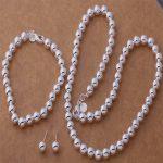 AS294 Hot 925 <b>sterling</b> <b>silver</b> Jewelry Sets Necklace 650 + Bracelet 272 + <b>Earring</b> 441 /alqajcxa asdajjka