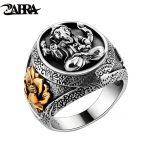 Thailand Buddha Elephant <b>Ring</b> Authentic 100% 925 <b>Sterling</b> <b>Silver</b> <b>Rings</b> for Men Vintage Punk Style GANESHA GANESH Men Jewelry