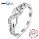 Genuine 925 <b>Sterling</b> <b>Silver</b> Jewelry Brand <b>Rings</b> For Women Wedding Lady Infinity <b>Ring</b> Size Gift For Mommy (JewelOra RI101804)