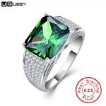 JQUEEN 9.5ct Emerald Cut 925 Solid <b>Sterling</b> <b>Silver</b> <b>Ring</b> High Quality Nano Russian Emerald <b>Rings</b> Women Fashion Classic Set
