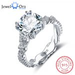 Engagement <b>Ring</b> 10mm 3.5 CT Hearts Arrows CZ 925 <b>Sterling</b> <b>Silver</b> <b>Rings</b> For Women Best Gift for Girlfriend(JewelOra RI102327)