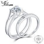 JewelryPalace 1ct Princess Cut Anniversary Wedding Band Solitaire Engagement <b>Ring</b> Bridal Channel <b>Ring</b> Sets 925 <b>Sterling</b> <b>Silver</b>