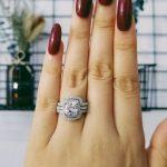 2018 new design Luxury 3 pcs 925 <b>sterling</b> <b>Silver</b> <b>Ring</b> cushion cut Engagement Wedding <b>Ring</b> for Women LR4308S