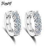 JYouHF Brand Luxury 925 <b>Sterling</b> <b>Silver</b> Hoop <b>Earrings</b> for Women Classic Heart Shaped Single Row Cubic Zirconia <b>Earrings</b> Jewelry