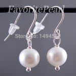 Wholesale Pearl <b>Earrings</b> – AAA 7-8MM White Color Natural Freshwater Pearl Dangle <b>Earring</b> Set – Free Shipping
