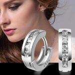<b>Sterling</b>–<b>silver</b>-jewelry pendientes mujer <b>earrings</b> 925 brincos plata earing stud orecchini oorbellen women jewelry crystal round