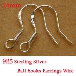 Yage 100Pcs/lot Jewelry Finding 925 <b>Sterling</b> <b>Silver</b> <b>Earrings</b> Hook Unisex <b>Sterling</b> <b>Silver</b> Jewelry Ear Hooks <b>Earring</b> Findings