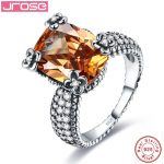 Jrose 100% 925 <b>Sterling</b> <b>Silver</b> Morganite <b>Rings</b> For Women Female <b>Ring</b> Finger Famous Original Jewelry Fine Jewelry Free Shipping