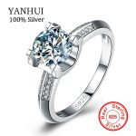 Big Sale Real Solid <b>Silver</b> <b>Ring</b> Set 1 Carat Sona CZ Diamant Wedding <b>Ring</b> For Women 100% 925 <b>Sterling</b> <b>Silver</b> <b>Rings</b> Jewelry YHR004