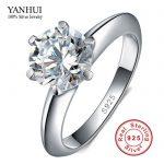 Big Promotion 100% Solid <b>Silver</b> <b>Ring</b> Set 1 Carat Sona CZ Diamant Engagement <b>Ring</b> Real 925 <b>Sterling</b> <b>Silver</b> <b>Rings</b> For Women JZR121