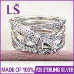 LS High Quality 100% Real 925 <b>Sterling</b> <b>Silver</b> Delicate Sentiments <b>Ring</b> For Women DIY Fashion <b>Rings</b> 100% Fine Jewelry H