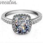 Vecalon 2016 Brand Fashion 3 Colors 5A Zircon cz <b>ring</b> 925 <b>Sterling</b> <b>Silver</b> Engagement Wedding Band <b>Ring</b> for Women gift