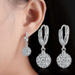 2017 new arrival hot sell fashion Shambhala crystal 925 <b>sterling</b> <b>silver</b> ladies`stud <b>earrings</b> female jewelry wholesale gift