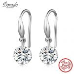 Dorado 925 <b>Sterling</b> <b>Silver</b> <b>Earrings</b> Round Cubic Zirconia Stone Love Water Drop <b>Earrings</b> for Women Fine Jewelry Brincos