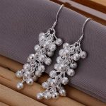 Fashion Jewelry Luxury 925 <b>Sterling</b> <b>Silver</b> Pearl Drop <b>Earrings</b> Wire Female Wedding Party Gift Jewelry