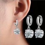 2017 new arrival high quality fashion shiny CZ zircon star 925 <b>sterling</b> <b>silver</b> ladies`stud <b>earrings</b> jewelry wholesale